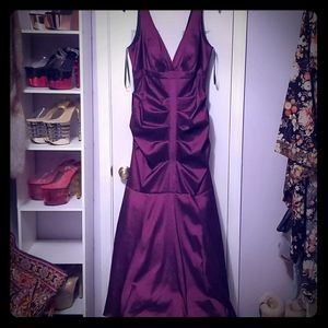 Dark Plum Plus Size Evening Gown